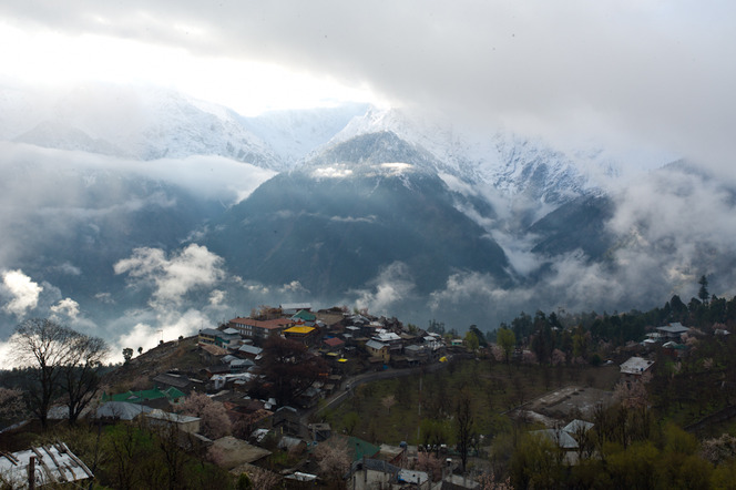 Our view of the Kinnaur Kailash range