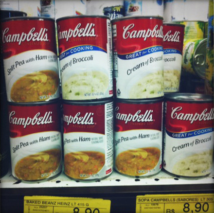 Campbell's Split Pea with Ham: R$8.90 (US$5.55)