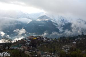 Our view of the Kinnaur Kailash range