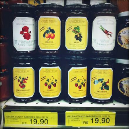 Jar of jam: R$19.90 (US$12.41)