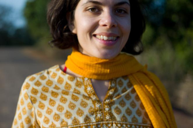 Anjuli in a salwar