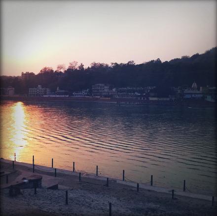 Sunset over the Ganga