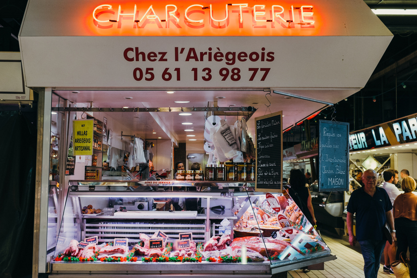 food, shopping, market, Food, meat, toulouse, Toulouse, Victor Hugo, charcuterie