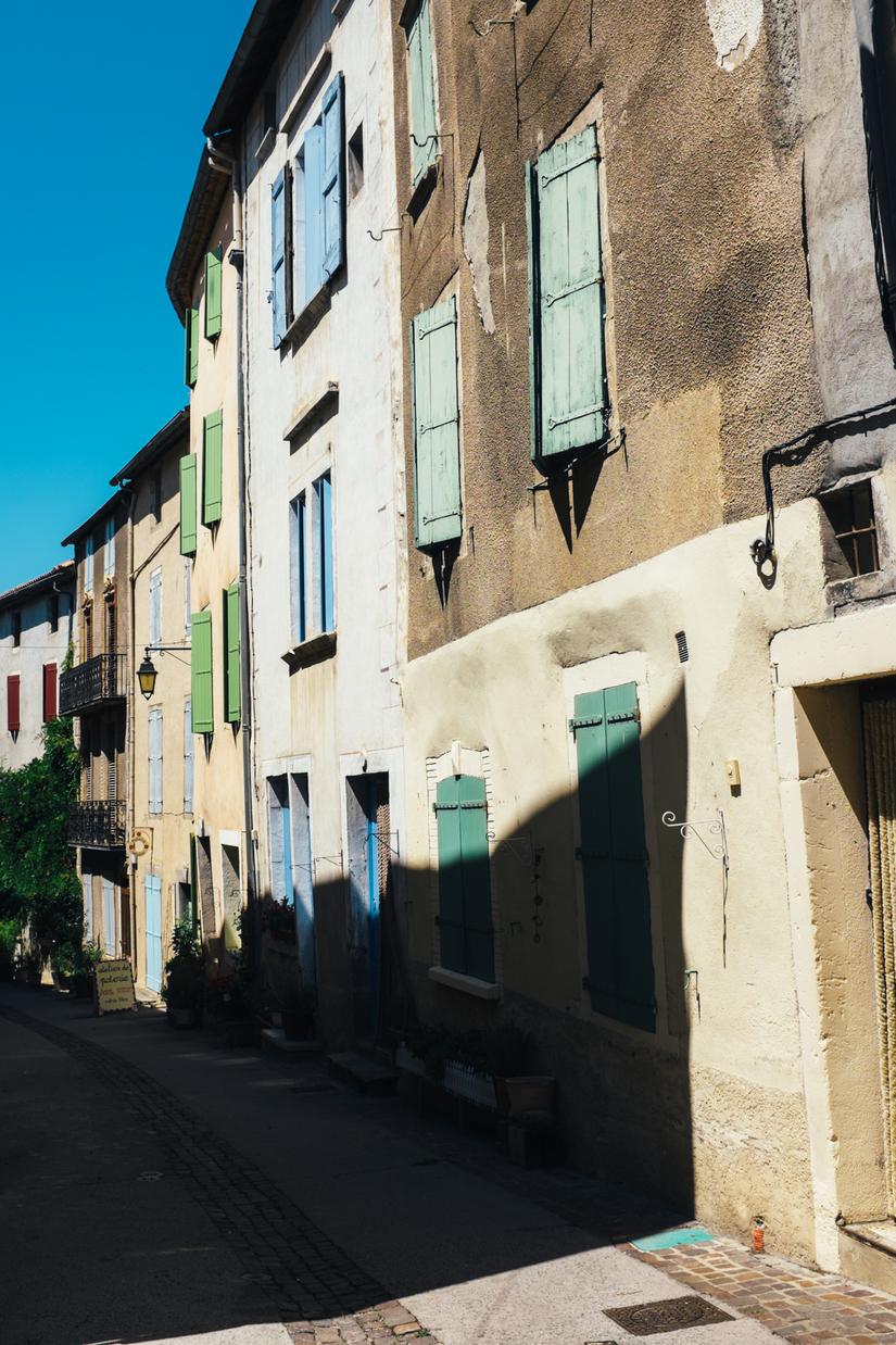 countryside, architecture, park, languedoc, Olargues, town, Languedoc, Parc naturel régional du Haut-Languedoc, shutters