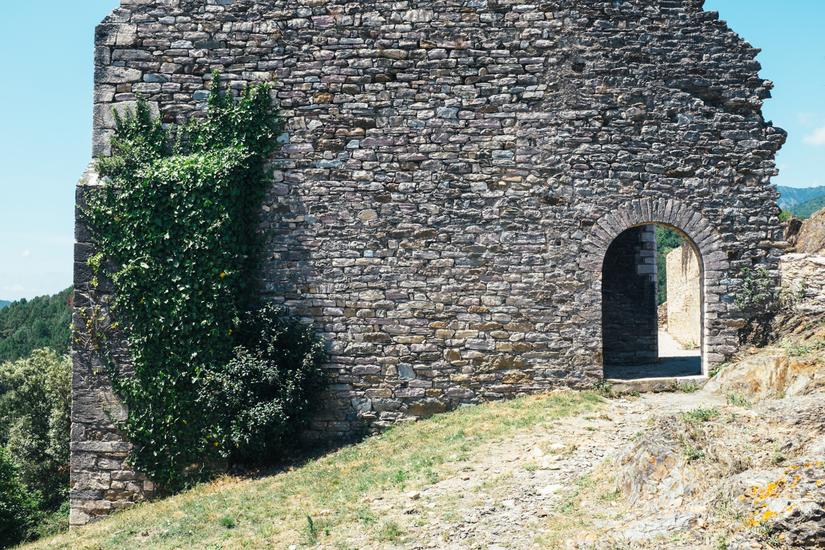 countryside, park, languedoc, church, Olargues, town, Languedoc, Parc naturel régional du Haut-Languedoc