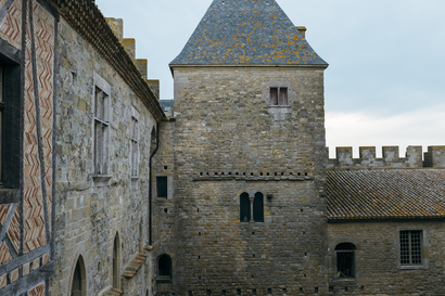 architecture, carcassonne, Carcassonne, wall, crenellation