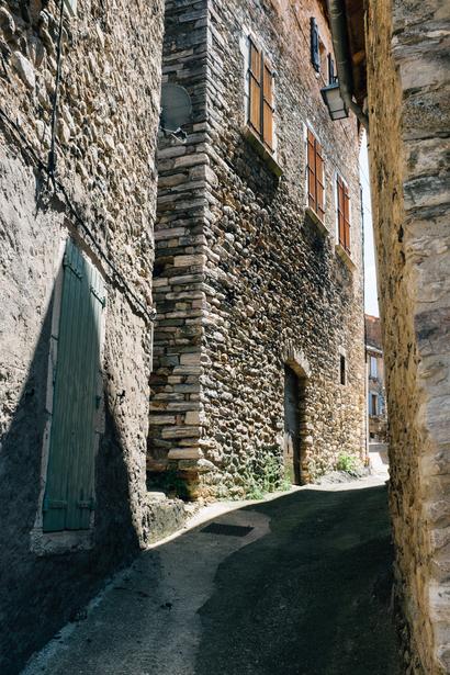 countryside, architecture, park, languedoc, Olargues, town, Languedoc, Parc naturel régional du Haut-Languedoc, stones