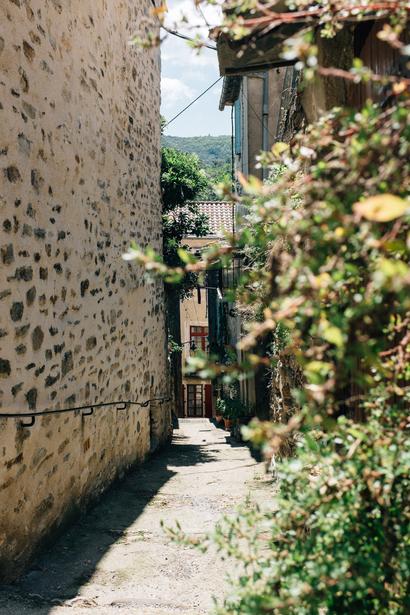 countryside, park, languedoc, Olargues, town, Languedoc, Parc naturel régional du Haut-Languedoc